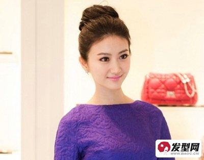 2013流行盘发发型图片 女星演绎清新可爱